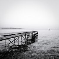 the black and white sea no.9 by herbstkind