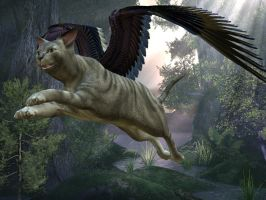 Winged Cat 1 by Trish2