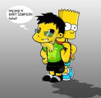 me and bart simson by oblivious-art