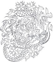 F8 dragon wip by micaeltattoo