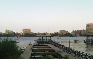 sitting by the nile by MEEMOZAD