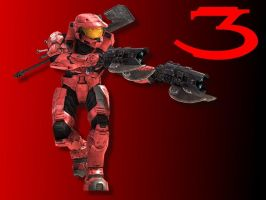 Halo 3 Wallpaper - Red by Joeshmoe59697