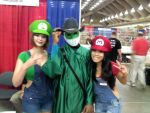 Me and the Mario Sisters! by Leck-Zilla