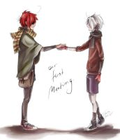 Laven - Our first meeting. by BlackCherryCookie