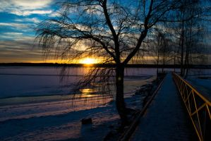 Icebeach sunset by EylianaStuff
