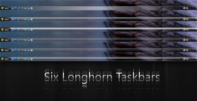 Six Longhorn Taskbars by giannisgx89