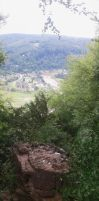 Tintern Abbey as seen from the Devil's Pulpit by UncleGargy