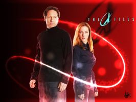 X-files Mulder And Scully. by FluffyPocket