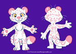 Rosie the Snow Leopard Character Sheet by artyewok