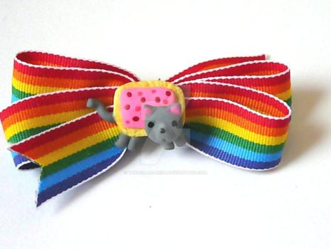 Nyan Cat Hair Bows by The-Killer-Anna