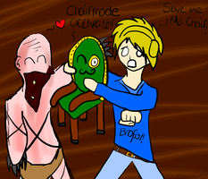 PewDie and Mr. Chair by xRavenbloodx