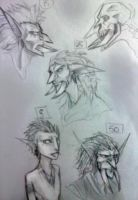 Hassour Age Sketches by ClockworkPriest