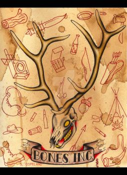 Elk Skull by NewColour