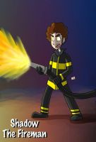 Shadow The Fireman by ShadowMaginis