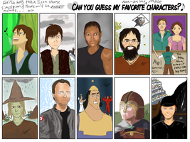 Guess These Characters by stickfigureparadise