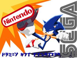 Sonic Kicks Nintendo by Gx3RComics
