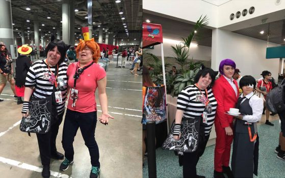 Chesh with Other Cosplayers at Anime Expo 16 pt 9 by Black--Cheshire