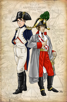 Napoleon and the Archduke by Pelycosaur24