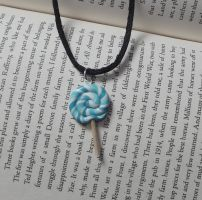 Blue lolly necklace 2 by MeticulousBlue