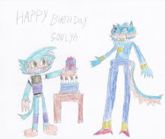 happy birthday fun-time-is-party by Dustyamigoking