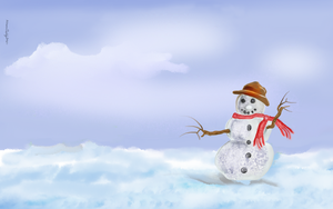 The Snowman by alteredteddybear