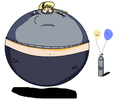 Derpy's Muffin balloon inflation by BittyHeart
