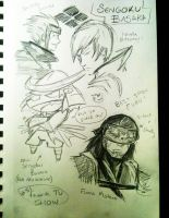 Summer Sketchbook~ My Favorite Show Sengoku Basara by Yavanni