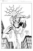 Spidey Swinging inks by madman1