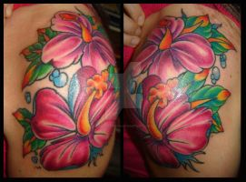 FREEHAND FLOWER TATTOO by dannygarcia
