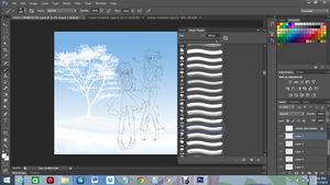 Cold Commission WIP 3 - Designing Background by Anisa-Mazaki