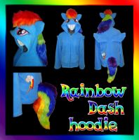 My Little Pony Rainbow Dash hoodie by Bahzi