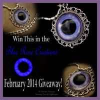 February 2014 Giveaway - Violet Eye Pendant by LadyPirotessa