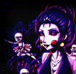 ballora and minireena by RukiaAngle