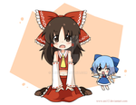 Reimu and Cirno by ani12