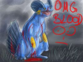 -scrap- bloody Swampert by Tacimur