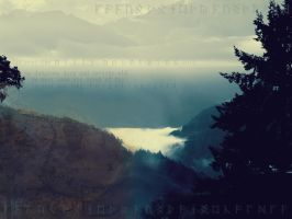 far over the misty mountains by JaneWolfskin