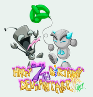 ::Belated dA Birthday:: by worm-baby