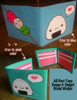 Onigiri,Dango Duct Tape Wallet by thejenty