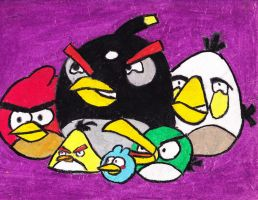 old drawing of angry birds by hannakun