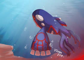 King Kyogre by Strawberry-Loupa