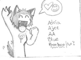 Ajee Blue character card by GrammarshineHyena