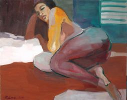 Reclining Woman by amtuart