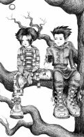 Trent, Issa and a Tree by Hey-Poo-Guy