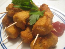 Vegetarian Mini Corn Dogs by Xommon