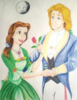 Belle and Prince Adam by NMNLazzaraRoss