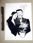 Gomez and Morticia by Nachan