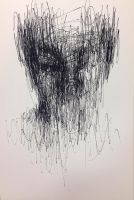 (D47)  untitled ball pen on paper 23.8 x 15.4  by ShinKwangHo