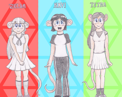 Rat Gijinkas 1 - Zelda, Navi, and Tetra by The-Bryce-Is-Right