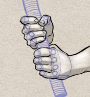 How to draw a hand holding a sword by PitGraf