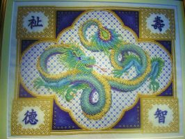 Celestial Dragon by StitchingDreams